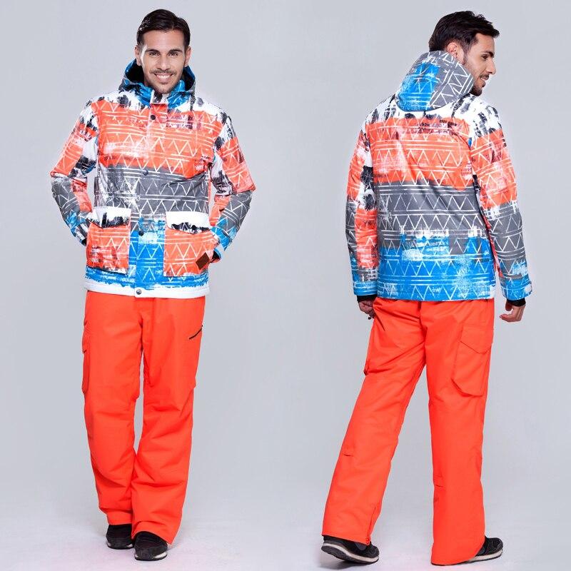 Prix pour Gsou snow Ski costume ensemble Hommes thermique coupe-vent imperméable à l'eau en plein air veste pantalon et veste