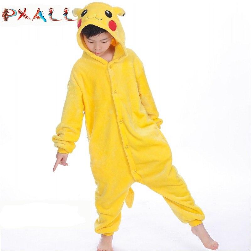 PAXLL Children Sleepwear Pikachu Kids Girl Clothes Pyjama Animal Boys Winter Pajamas Kigurumi Flannel Unicorn Pajamas Kids