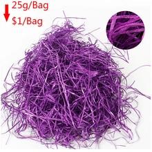 25g/bag glitter colorful Raffia Filler Paper package box filler Crinkle Shredded filling confetti for gift Wrapping