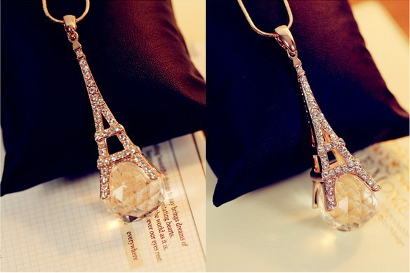 Woman fashion vintage delicacy eiffel tower pendant necklace crystal woman fashion vintage delicacy eiffel tower pendant necklace crystal sweater chain cloth accessories girl friend souvenir aloadofball Images