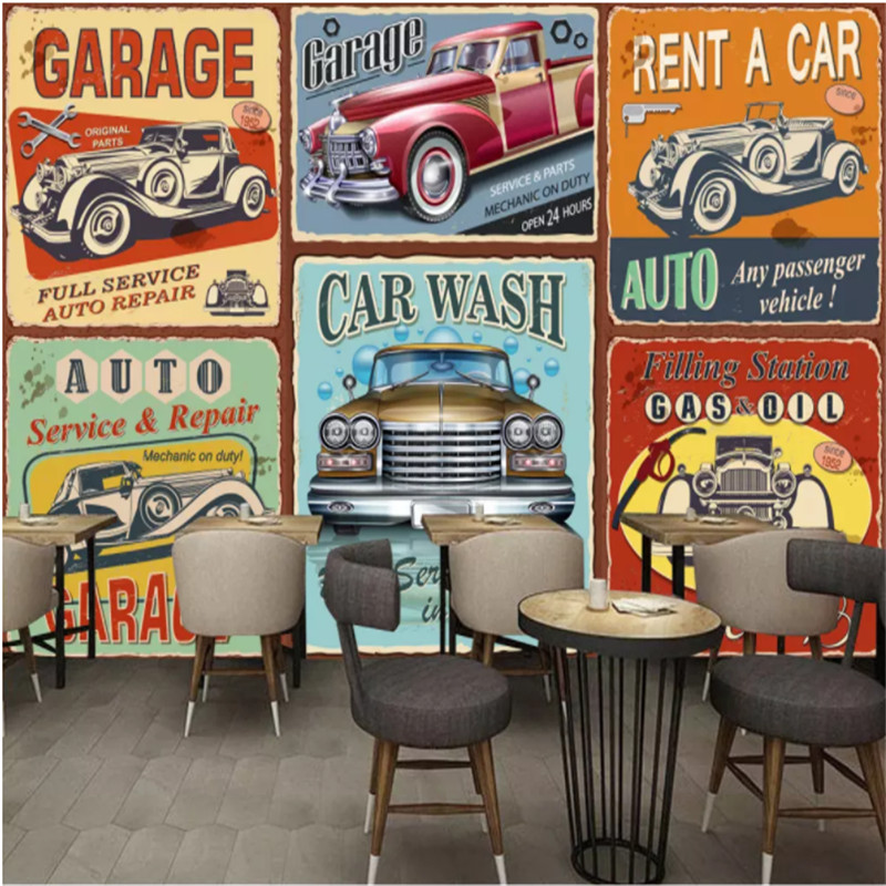 Custom mural <font><b>wallpaper</b></font> <font><b>3D</b></font> Vintage European classic <font><b>cars</b></font> photo <font><b>wallpaper</b></font> bar Cafe Living Room bedroom wall papers Home Decor image