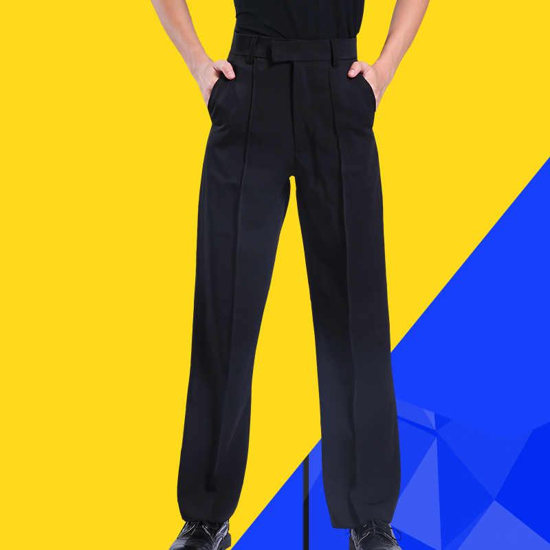 Pantalones de baile latino para niños pantalones negros para hombres, pantalones de baile con cinturón, modernos pantalones de baile Salsa Tango Rumba Samba Cha pantalones Latinos