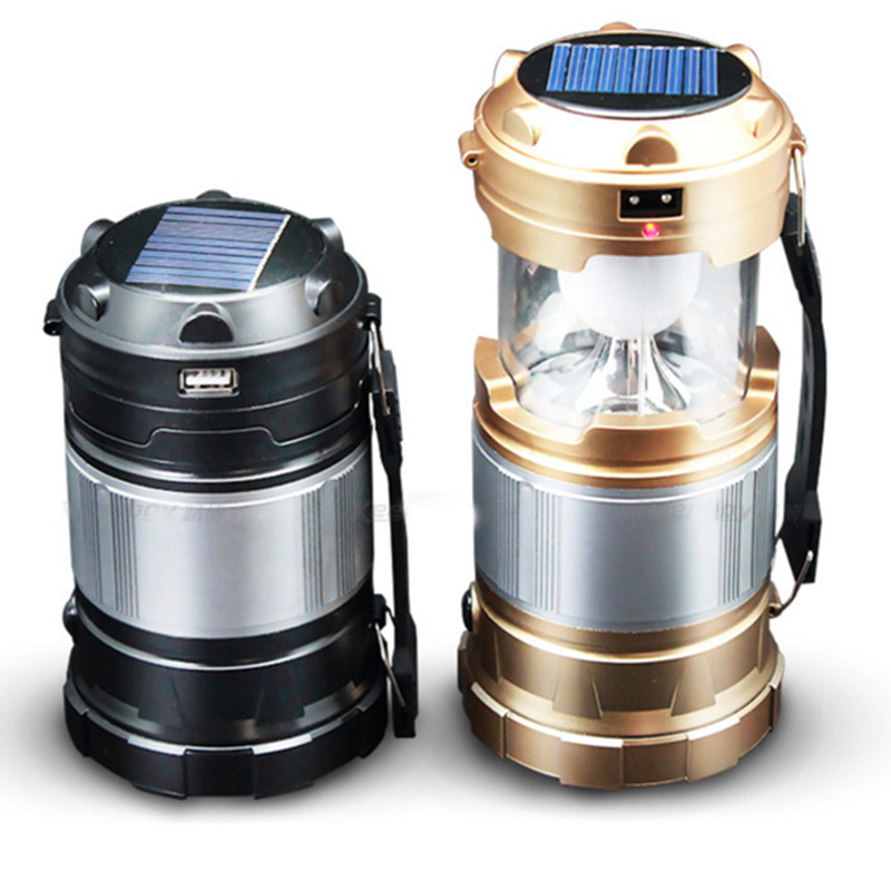 Led Camping Backpacking Lantern Emergency Lamp Solar Powered ...