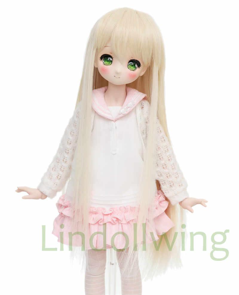 1/3 BJD perruque Pullip Dal DD SD LUT Dollfie poupée perruque haute température cheveux 8-9 pouces longue Blonde perruque 613