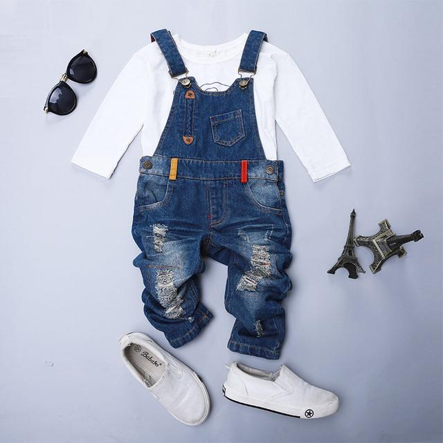 Cereja doce conversa, New Kids Ripped Denim Jeans Calças Macacão Jeans Crianças Calças Meninos e Meninas calças de Brim Ocasionais SJ2205