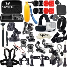 SnowHu for Gopro Accessories Kit Chest Strap Belt Body Tripod Harness Mount For Go pro Hero 7 6 5 4 Yi 4K sport Camera GS03
