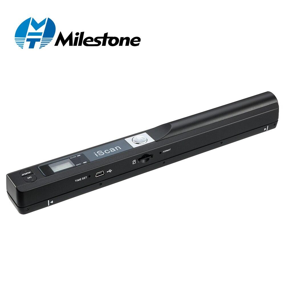 Milestone сканер Портативный сканер документов 900 Точек на дюйм Iscan ручной A4 сканер документов Поддержка JPG и PDF формате MHT-IScan01