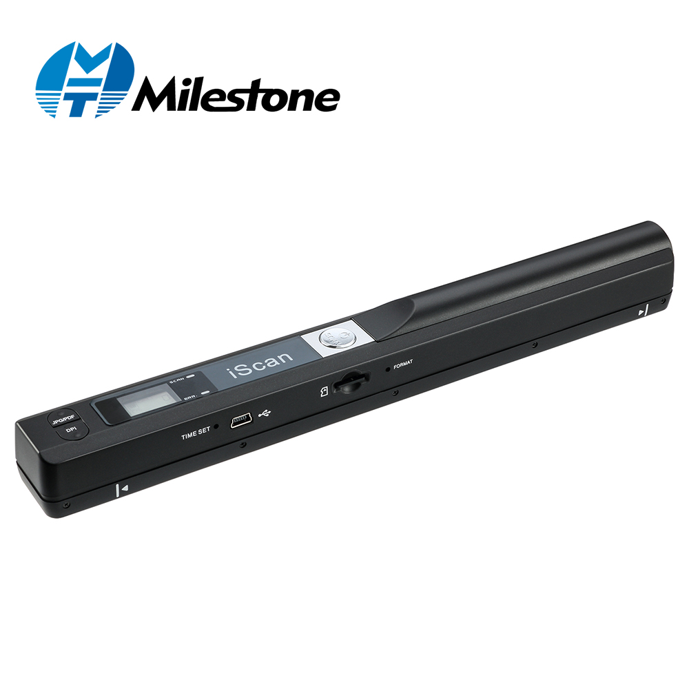Milestone Scanner Portable Document Scanner 900DPI Iscan Handheld A4 Document Scanner Support JPG and PDF Formate MHT-IScan01