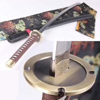Inuyasha iron broken tooth cosplay prop katana 104cm Carbon steel material Give a good gift to a friend home decor
