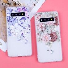 3D Relief Soft TPU Cases Voor Samsung Galaxy S10 Bloemen Covers Voor S7 Rand S8 Plus S9 Plus S10 Lite plus Note 9 Siliconen Capas