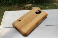 100 Genuine Wood Case For Samsung Galaxy S5 Mini G800 Handmade Bamboo Wood Case Free Shipping