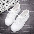 Белые ботинки холстины женщин классические низкие верхние плоские повседневная обувь пары тапочек эспадрильи узелок досуг обувь zapatillas mujer XK082712