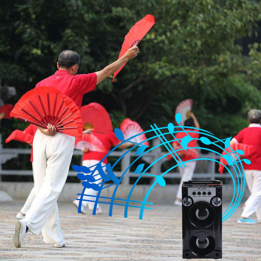 Unterhaltungselektronik Lautsprecher Schneidig Bluetooth Wireless-led Usb Super Bass Lautsprecher Aux Tf Fm Radio Tragbare Outdoor Lautsprecher Qjy99