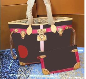 все цены на Emarald 2018 new Genuine Leather fashion neverful women handbag with good quality bags GM/MM bag free shipping онлайн