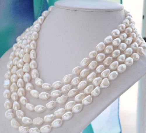 FREE SHIPPING HOT sell new Style >>>>classic 12-13mm south sea baroque white pearl necklace 48inch14k цена и фото