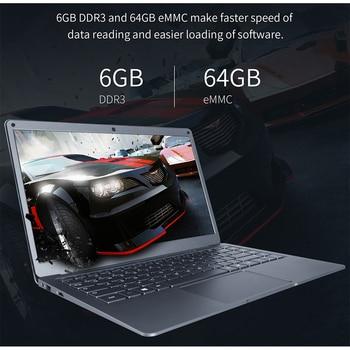 13.3 بوصة 6GB 64GB EMMC المحمول الطائر EZbook X3 دفتر IPS عرض إنتل أبولو ليك N3350 2.4G / 5G واي فاي مع فتحة M.2 SATA SSD 1