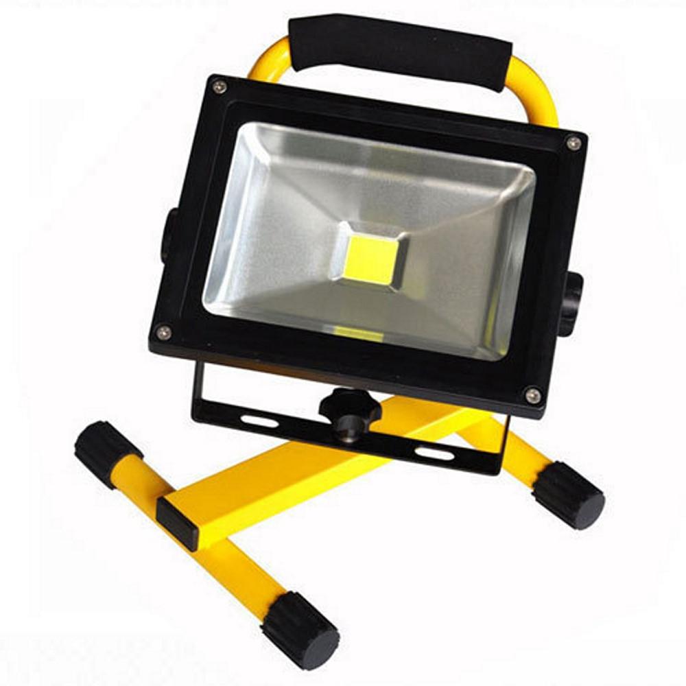 30W LED Flood Light Portable Rechargeable MAGNET FOOT Flood Light Lamp 85-265V IP65 new 6 18650 battery new powerful lights rechargeable led floodlight 100leds 2400lumen 100w flood lamp portable light