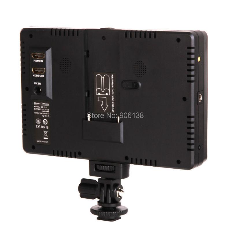 Viltrox 7 '' DC-70II Clip-on Color TFT HD Monitor LCD Pantalla 4K - Cámara y foto - foto 5