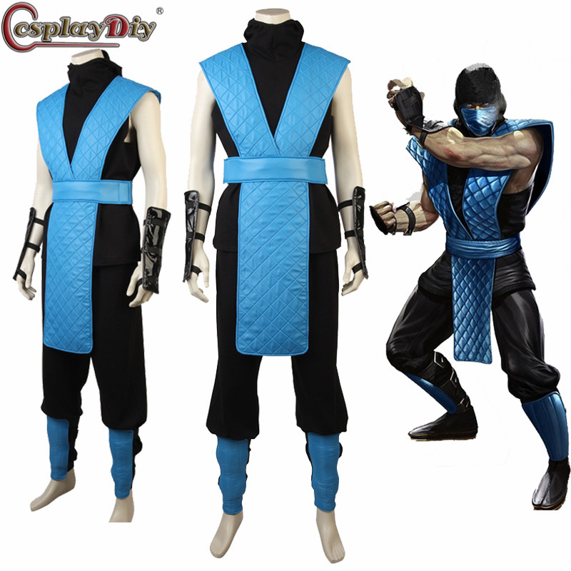Cosplaydiy Mortal Kombat X Sub Zero Cosplay Halloween Costumes Custom Made Cosplay Sub Zero Costume Hot Game Costume Suit Game Costumes Aliexpress