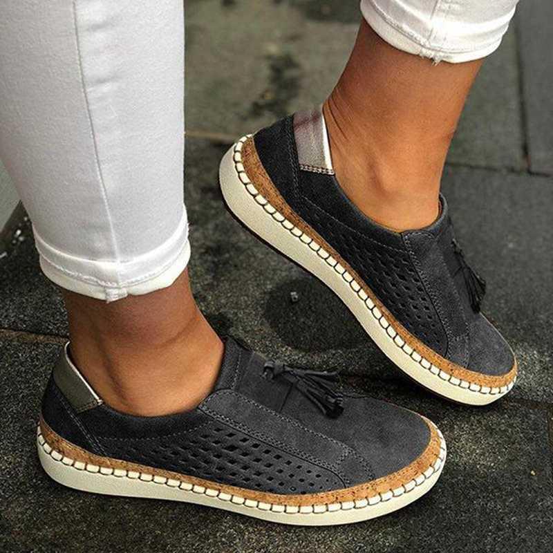 Vertvie casual Scarpe Slip-On della Scarpa Da Tennis Delle Signore della Donna Comodo Della Signora Mocassini Scarpe Flat Tenis Feminino Zapatos De Mujer