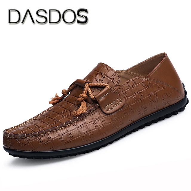 New Mens Casual Breathable Lace Up Driving Shoes Moccasin Loafer sHOES Brown 41