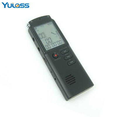 Yulass Telephone Digital Voice Recorder 8GB Black VOR Professional audio recorder USB Dictaphone With MP3/WMA/WAV