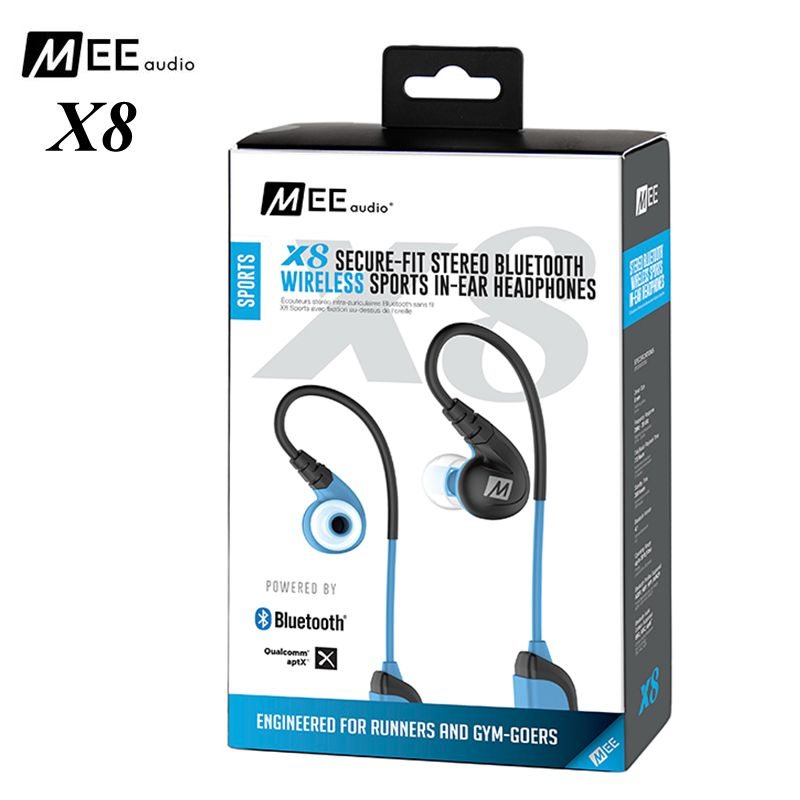 24 hours shipping!MEE Audio X8 Stereo Bluetooth Wireless headset Sports Running In-Ear HD Earphone With Mic Calls Control Earbud zonyee m02 mini bluetooth earbud csr4 1 wireless earphone handsfree with hd mic stereo in ear bluetooth headset for phone xiaomi