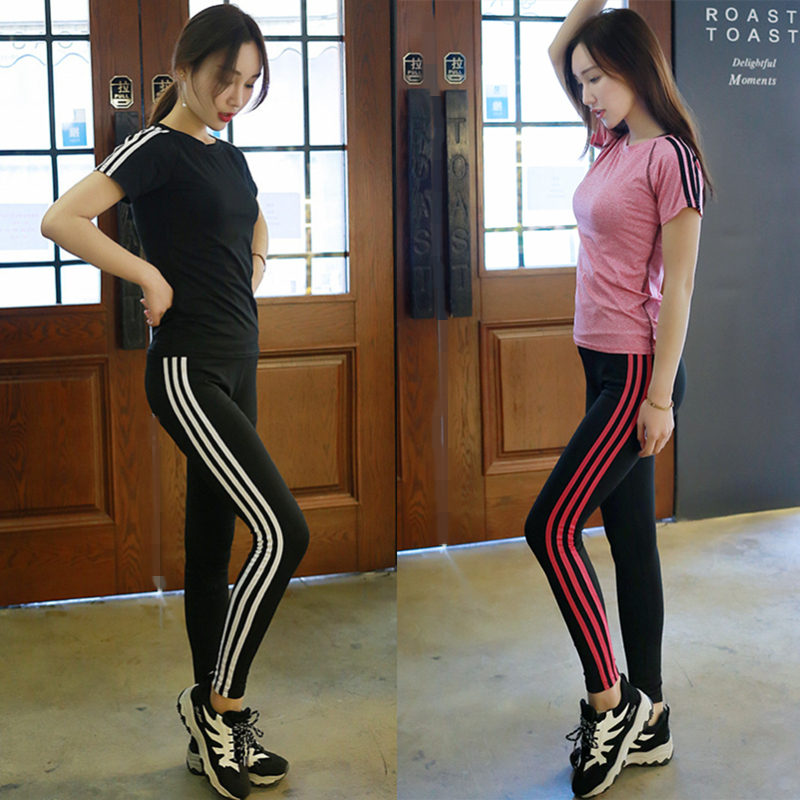 Women's Sports Running Fitness Yoga Pants Stripes Female Tight Pants Legging Trousers Sportswear