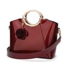 Luxury Patent Leather Handbags Women Bags Fashion Brand Designer Tote Bag Ladies Handbags Vintage Female Shoulder Bags Bolsas цена