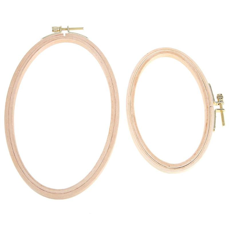 Oval Shape Cross Stitch Machine Wooden Frame Embroidery Hoop DIY Needlecraft Household Sewing Craft Tools Embroidery Hoops