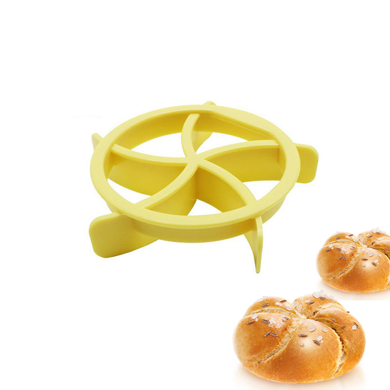 Plastic Kaiser Roll Maker Cake Mold Bread Seal Cutter Baking Decoration Tool image