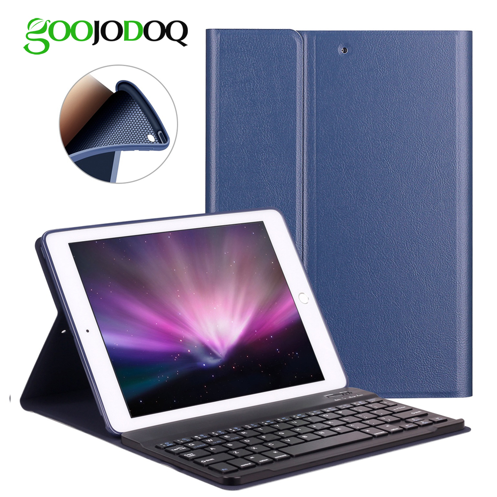 GOOJODOQ Case For iPad 2017 9.7 inch 2018 / iPad Air 2 1 Keyboard PU Leather Smart Cover Detachable Wireless Bluetooth Keyboard 7 9 inch universal detachable wireless bluetooth magnetic keyboard with pu leather cover case for apple ipad mini 2 3 4