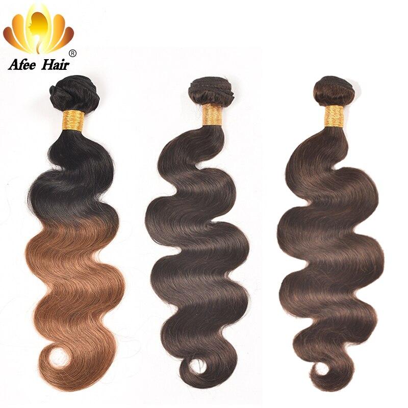 AliAfee Hårbrasilianska Body Wave Hair Weave Bundles 3 PC Deal Non - Mänskligt hår (svart) - Foto 6
