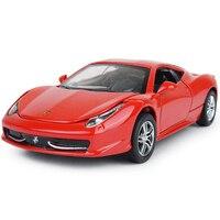 Hot 1:32 schaal wiel italië beroemde paard logo auto diecast super sport cars 458 Italia metalen model licht & geluid pull back speelgoed