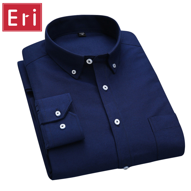 f951b6c60f3fcd New Brand Fashion Shirts Long Sleeve Business Formal Non Iron Cotton Social  Solid Design Male Shirts