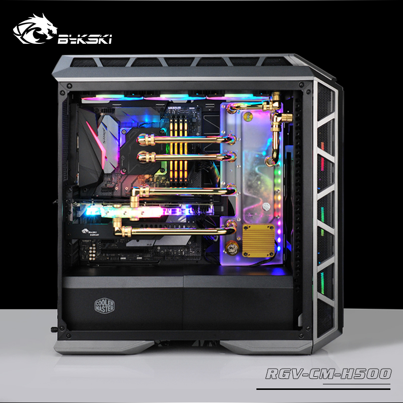 Bykski Waterway Board Deflector Water Cooling Program Channel Board RBW Lighting For CoolerMaster H500P Case RGV