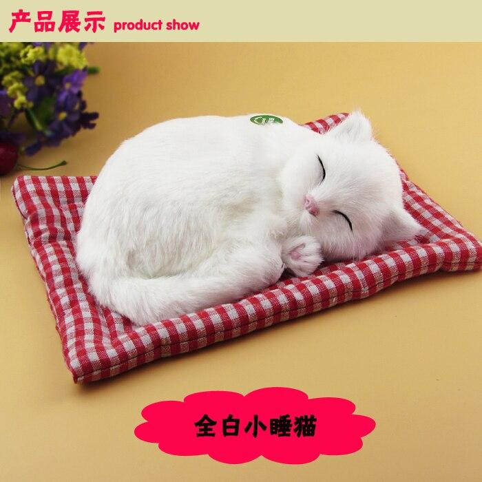 simulation cat ,furry fur white Persian cat , about 25x20cm sound miaow cat model car ornament layout decoration gift h1307 simulation white cat model polyethylene