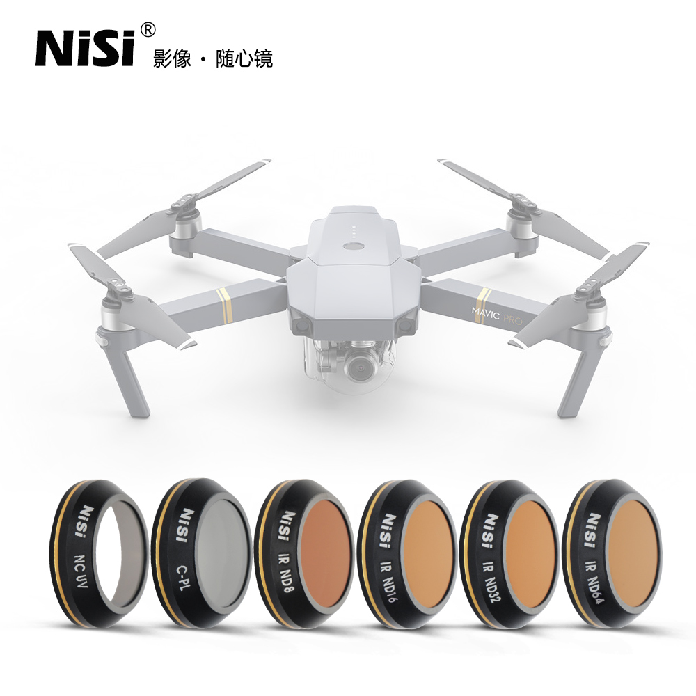 NiSi DJI Mavic Pro Filter Kit For its eyes with special effects,Free shipping,EU tariff-free nisi square filter soft hard reverse gnd8 0 9 150 170mm ar nd1000 filter free shipping eu tariff free