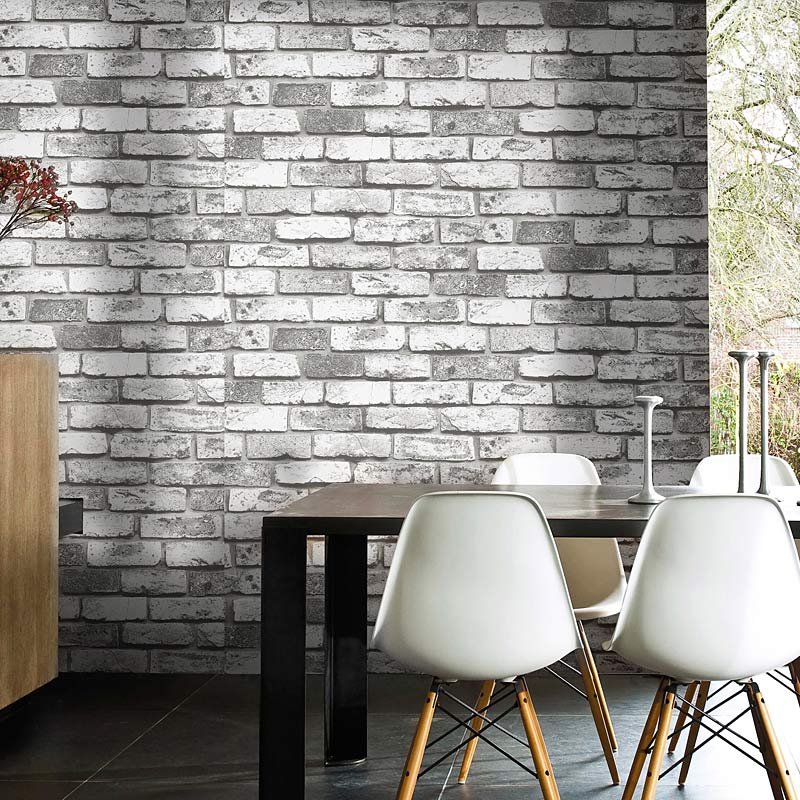 Online Shop High Quality Deep Texture 3D Embossed Imitation Brick Wallpaper Modern Vintage Restaurant Living Room PVC Waterproof Wall Papers