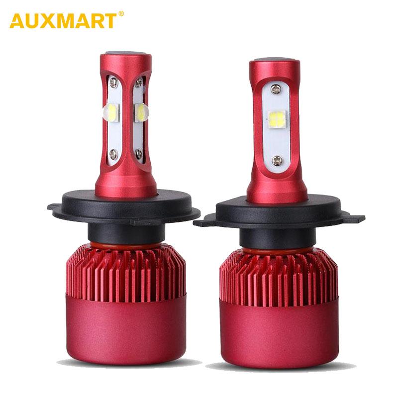 Prix pour Auxmart G9 H4 HB2 9003 Voiture LED Phare Ampoules SMD Voiture projecteurs Plongé Salut-Bas Faisceau 80 W/set Brouillard Lampes 6500 K 9600LM DRL 12 v 24 v
