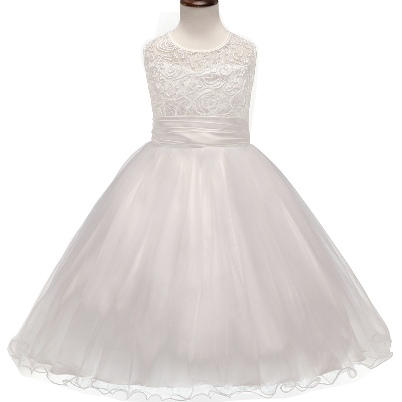 Buy elegant teenage girl dress white lace for Wedding dresses for young girls