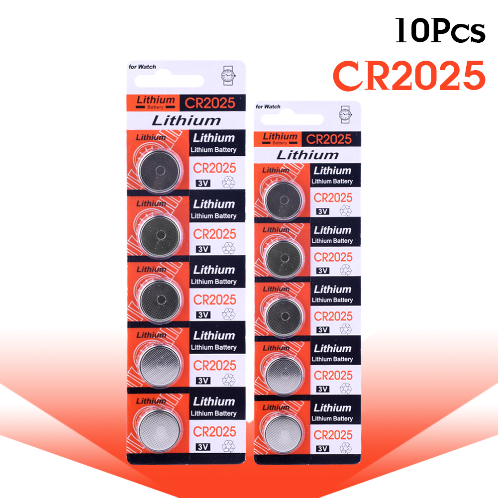 цена на YCDC 10pcs! CR2025 3V Lithium Battery Button Cell Coin Battery 2025 CR2025 BR2025 DL2025 KCR2025 L12 for Watch Calculator Toy
