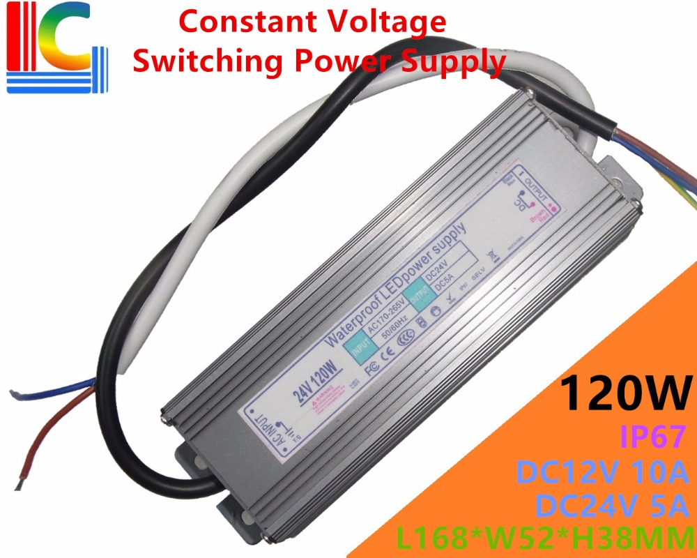 120W IP65 Waterproof LED Switching Power Supply 12V 24V LED Driver Adapter 10A 5A Underwater light Underground 110V 220V CE image