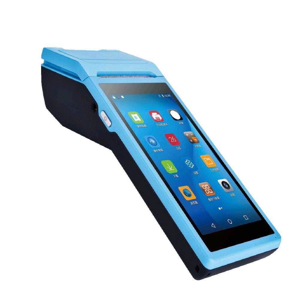 Android POS Terminal terminal de Paiement Mobile avec 5.5 pouces écran tactile thermique imprimante