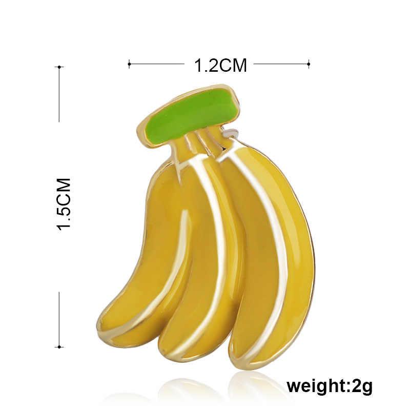 Funmor умная брошь в форме банана с эмалью, фруктовые украшения для женщин, Детский свитер, платье воротник из джинсовой ткани, сумка, шляпные булавки, повседневные аксессуары, подарок