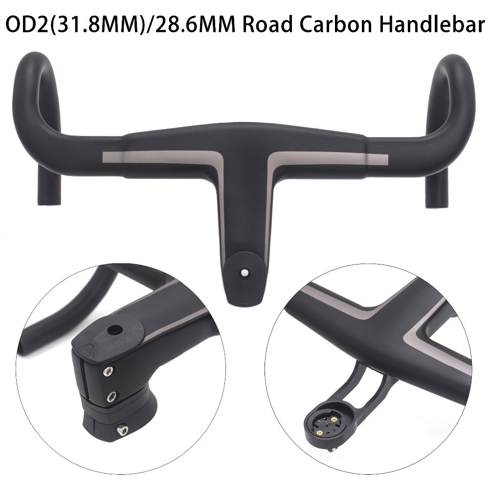 2019 new T800 Carbon Handlebar 28.6mm/31.8mm Integrated Bar Road Bicycle Handlebar matt black OD2 stem2019 new T800 Carbon Handlebar 28.6mm/31.8mm Integrated Bar Road Bicycle Handlebar matt black OD2 stem