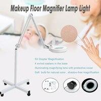 Makeup Floor Magnifier LED Lamp Light 5x Skincare Beauty Manicure Tattoo Salon Spa For Medical Cosmetology UK US Plug Standard