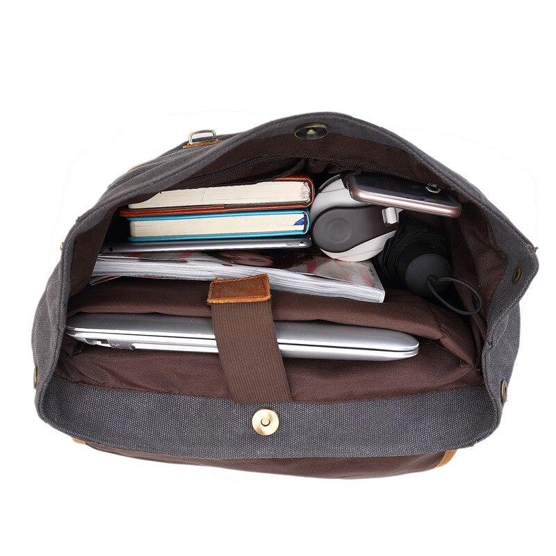 AETOO coton rétro eau toile hommes femmes sac à dos épaules ordinateur sac hommes sac à dos voyage loisirs bonne qualité sacs à dos - 5