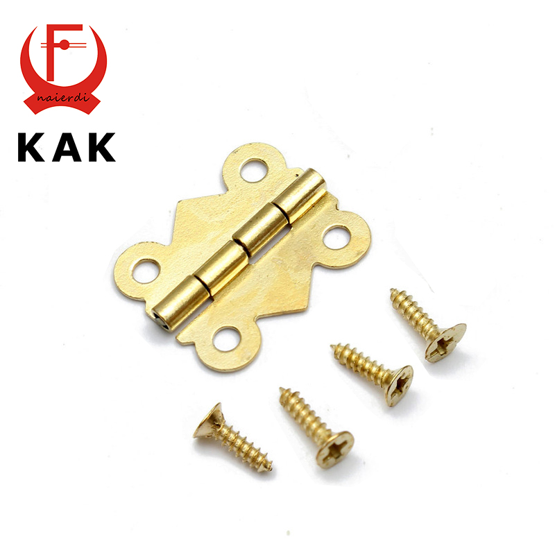 10pcs KAK 20mm x17mm Bronze Gold Silver Mini Butterfly Door Hinges Cabinet Drawer Jewellery Box Hinge For Furniture Hardware
