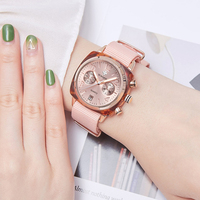 Luxury Wwoor Womens Pink Watch